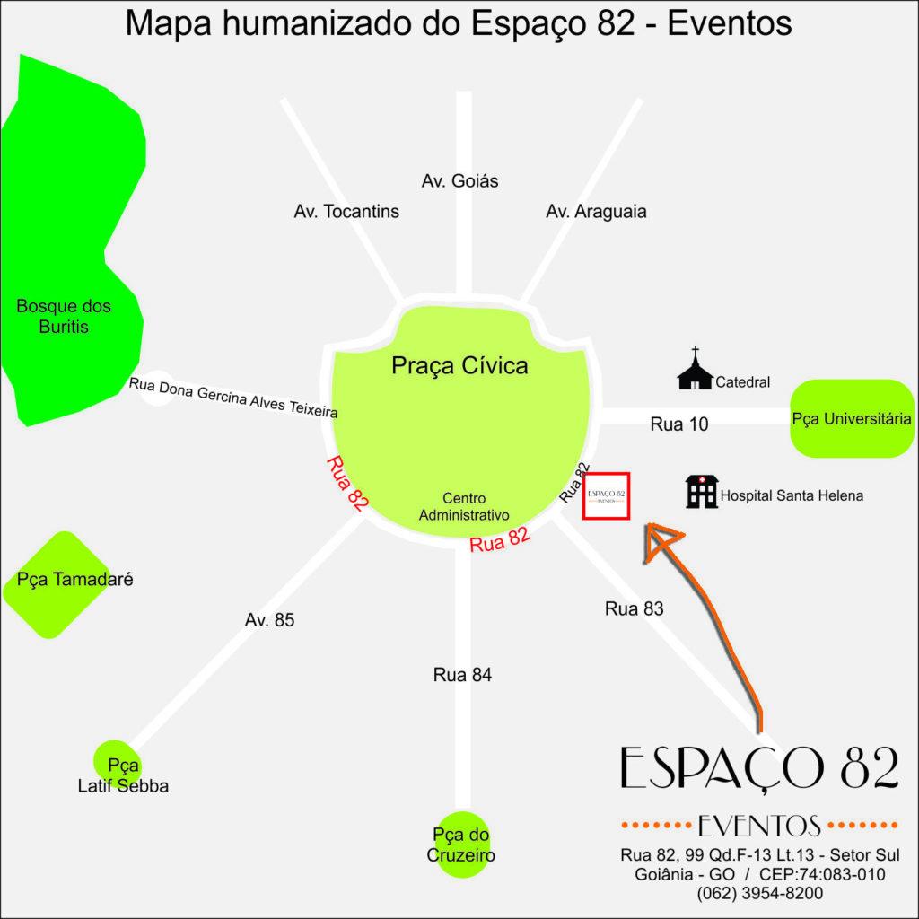Localização Espaço 82 Eventos